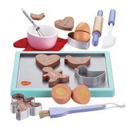 Bee Smart Set Giocattolo Per Bambin Di Accessori Da Cucina E Biscotti In Legno 0