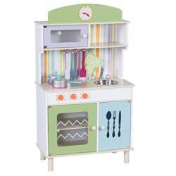 Costway Cucina Per Bambini Cucina Giocattolo In Legno Con Accessori Riproduzione Perfetta Scelta Dei Colori Verde 0