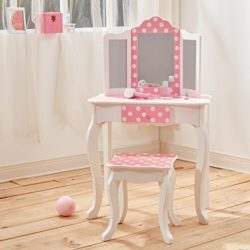 Fashion Prints Td 11670f Set Da Tavola E Sgabello Legno Pink White 5969x2921x9779 Cm 0