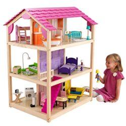 Kidkraft 65078 Casa Delle Bambole In Legno So Chic Per Bambole Di 30 Cm Con 46 Accessori Inclusi E 3 Livelli Di Gioco 0