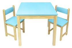 Leomark Tavolo In Legno Due Sedie Set Tavolino Sgabelli Tavolo Per Camera Di Bambini Mobili In Legno Mobili Per Bambini Scuola Materna Asilo Blu 0