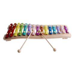 Rolimate Legno 15 Principali Note Cromatiche Glockenspiel Xilofono Giocattoli Per 1 2 3 Anni Bambini E Up 0