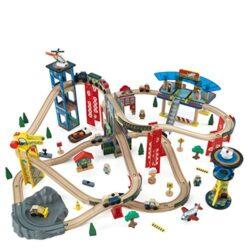 Kidkraft 17809 Set Treno Giocattolo In Legno Per Bambini Super Highway Con 80 Pezzi Inclusi 0