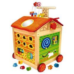 I M Toy Carrellino Multiattivita In Legno Per Bambini Giochi In Legno Per Prima Infanzia Primi Passi Im87160 0
