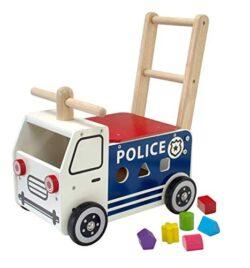 I M Toy Carretto Camion Della Polizia Primi Passi Con Cubi In Legno Im87701 0