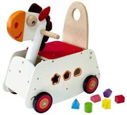 I M Toy Primi Passi Carrellino In Legno Cavallo A Dondolo Im87870 0