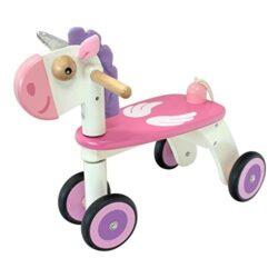 I M Toy Primi Passi Carrellino In Legno Unicorno Im87780 0