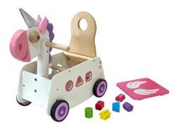 I M Toy Primi Passi Carrellino In Legno Unicorno Im87890 0