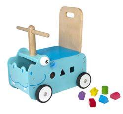 Im Toy Carrello Da Passeggio In Legno Ippopotamo 0