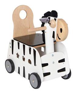 Im Toy Carrello Da Passeggio In Legno Zebra 0