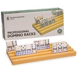 Yellow Mountain Imports Rackvassoi Domino Per Giochi Da Tavolo Chicken Foot Treno Messicano E Domino Set Da 4 0